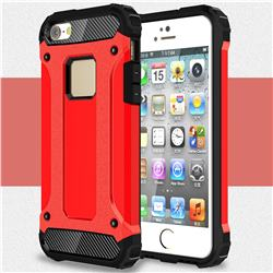 King Kong Armor Premium Shockproof Dual Layer Rugged Hard Cover for iPhone SE 5s 5 - Big Red