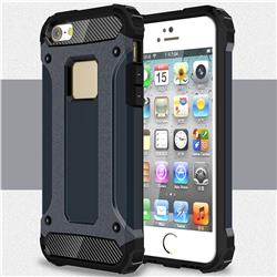 King Kong Armor Premium Shockproof Dual Layer Rugged Hard Cover for iPhone SE 5s 5 - Navy