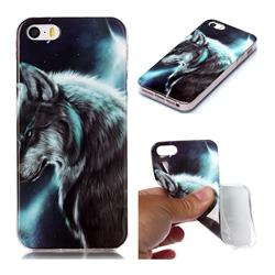 Fierce Wolf Soft TPU Cell Phone Back Cover for iPhone SE 5s 5