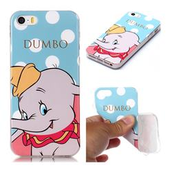 Dumbo Elephant Soft TPU Cell Phone Back Cover for iPhone SE 5s 5