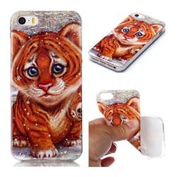 Cute Tiger Baby Soft TPU Cell Phone Back Cover for iPhone SE 5s 5