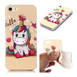 Hello Unicorn Soft TPU Cell Phone Back Cover for iPhone SE 5s 5