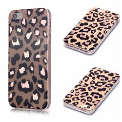 Leopard Galvanized Rose Gold Marble Phone Back Cover for iPhone SE 5s 5