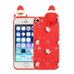 Snowflakes Gloves Christmas Xmax Soft 3D Doll Silicone Case for iPhone SE 5s 5