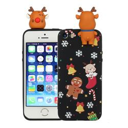 Gift Snow Christmas Xmax Soft 3D Doll Silicone Case for iPhone SE 5s 5