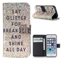Shine All Day Leather Wallet Case for iPhone 5s / iPhone 5