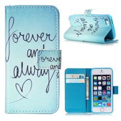 Never And Always Leather Wallet Case for iPhone 5s / iPhone 5