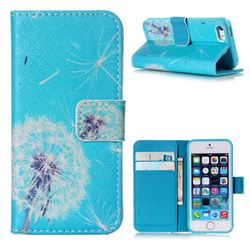 Dandelion Sky Leather Wallet Case for iPhone 5s / iPhone 5