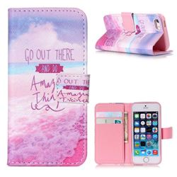 Amazing Things Leather Wallet Case for iPhone 5s / iPhone 5