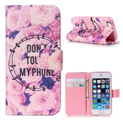 Retro Flowers Leather Wallet Case for iPhone 5s / iPhone 5