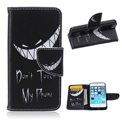 Crooked Grin Leather Wallet Case for iPhone 5s / iPhone 5