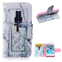 Perfume Bottle Leather Wallet Case for iPhone 5s / iPhone 5