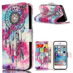Butterfly Chimes PU Leather Wallet Case for iPhone SE 5s 5