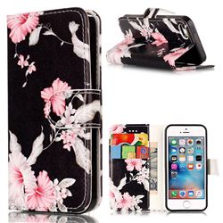 Azalea Flower PU Leather Wallet Case for iPhone SE 5s 5