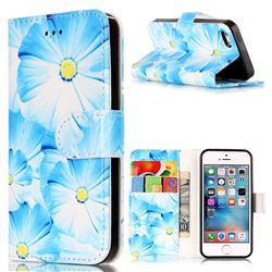 Orchid Flower PU Leather Wallet Case for iPhone SE 5s 5