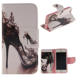 High Heels PU Leather Wallet Case for iPhone SE 5s 5