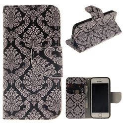 Totem Flowers PU Leather Wallet Case for iPhone SE 5s 5