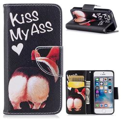 Lovely Pig Ass Leather Wallet Case for iPhone SE 5s 5