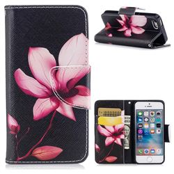 Lotus Flower Leather Wallet Case for iPhone SE 5s 5