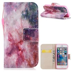 Cosmic Stars PU Leather Wallet Case for iPhone SE 5s 5