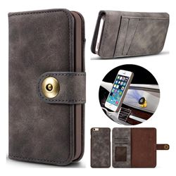 Luxury Vintage Split Separated Leather Wallet Case for iPhone SE 5s 5 - Black