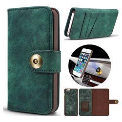 Luxury Vintage Split Separated Leather Wallet Case for iPhone SE 5s 5 - Dark Green