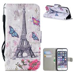 Paris Tower 3D Painted Leather Wallet Phone Case for iPhone SE 5s 5