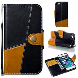 Retro Magnetic Stitching Wallet Flip Cover for iPhone SE 5s 5 - Black
