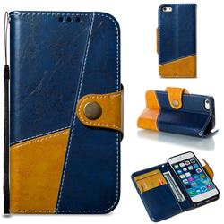 Retro Magnetic Stitching Wallet Flip Cover for iPhone SE 5s 5 - Blue