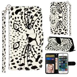 Leopard Panther 3D Leather Phone Holster Wallet Case for iPhone SE 5s 5