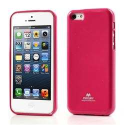 Mercury Goospery Glitter Powder Jelly TPU Back Cover for iPhone 5c - Rose