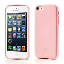 Mercury Goospery Glitter Powder Jelly TPU Back Cover for iPhone 5c - Pink