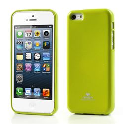 Mercury Goospery Glitter Powder Jelly TPU Back Cover for iPhone 5c - Green
