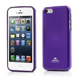 Mercury Goospery Glitter Powder Jelly TPU Back Cover for iPhone 5c - Purple