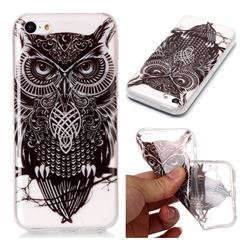 Staring Owl Super Clear Soft TPU Back Cover for iPhone 5c