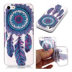 Blue Wind Chimes Super Clear Soft TPU Back Cover for iPhone 5c
