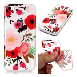 Painting Flowers Super Clear Soft TPU Back Cover for iPhone 5c