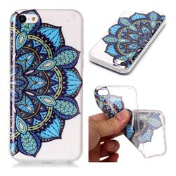 Peacock flower Super Clear Soft TPU Back Cover for iPhone 5c