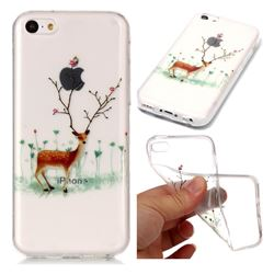 Branches Elk Super Clear Soft TPU Back Cover for iPhone 5c