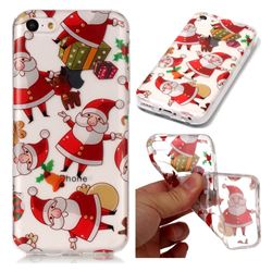 Santa Claus Super Clear Soft TPU Back Cover for iPhone 5c