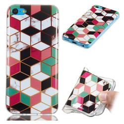 Three-dimensional Square Soft TPU Marble Pattern Phone Case for iPhone 5c