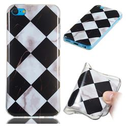Black and White Matching Soft TPU Marble Pattern Phone Case for iPhone 5c