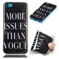 Stylish Black Soft TPU Marble Pattern Phone Case for iPhone 5c