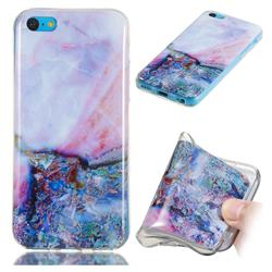 Purple Amber Soft TPU Marble Pattern Phone Case for iPhone 5c