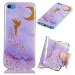 Elf Purple Soft TPU Marble Pattern Phone Case for iPhone 5c