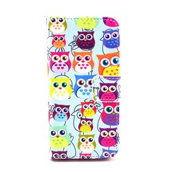 Cute Owls Leather Wallet Case for iPhone 5c