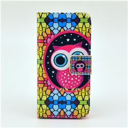 Brilliant Owl Leather Wallet Case for iPhone 5c