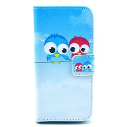 Bird Lovers Leather Wallet Case for iPhone 5c