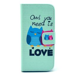 Owl Lover Leather Wallet Case for iPhone 5c