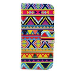 Colored Tribal Leather Wallet Case for iPhone 5c
